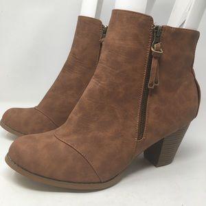 Lane Bryant | vegan leather heeled booties zipper